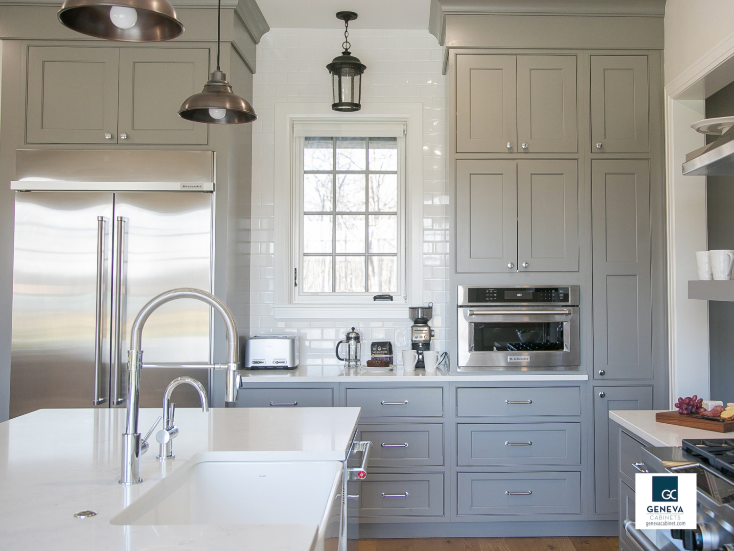 kitchen cabinet company tall tables geneva storage wall keeps open cluster cabinets together