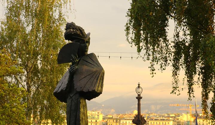 Statue de Sissi à Genève. ©GLP