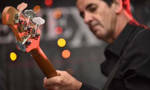 Jamie, bass guitar, Genexis - Tewantin Noosa RSL