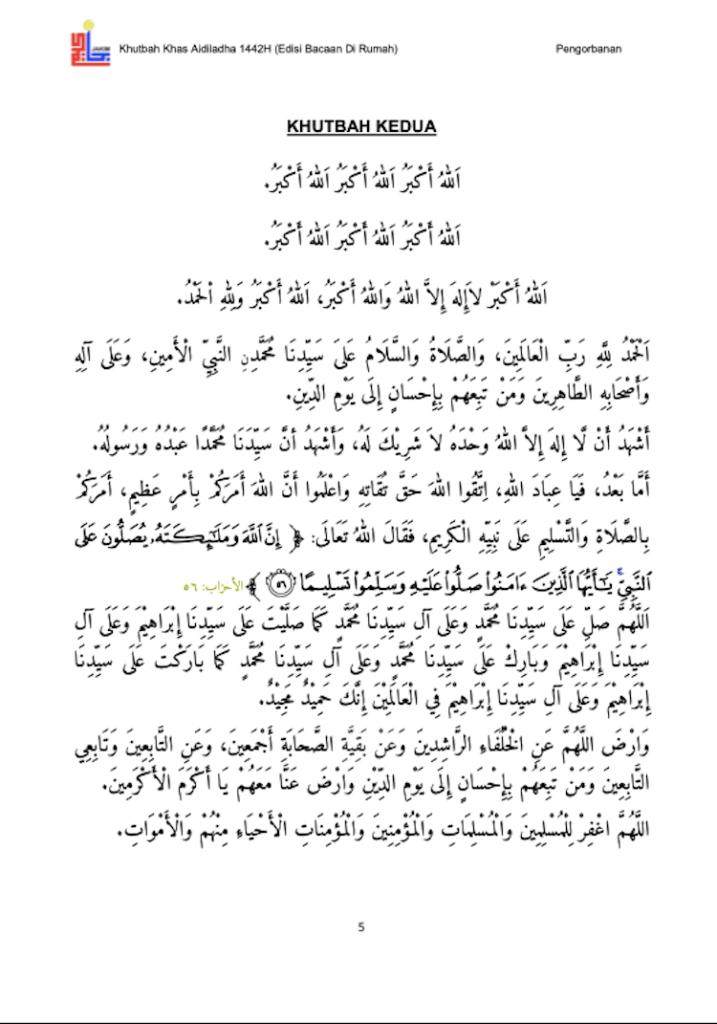Khutbah Raya Haji di rumah 6