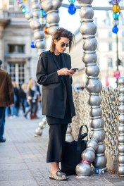 blazer oversize and culottes