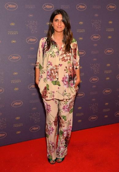 Géraldine Nakache en pyjama Gucci au dîner d'ouverture de Cannes