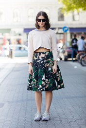 skirt and top from H&M, sneakers from New Balance and sunglasses from COS