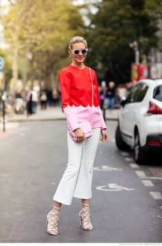 top from Marimekko, shoes from Wanted, pants from White Suede and sunglasses from Supreme