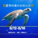 🌻夏季休業のお知らせ🌻