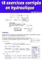 18 exercices corrigés en hydraulique