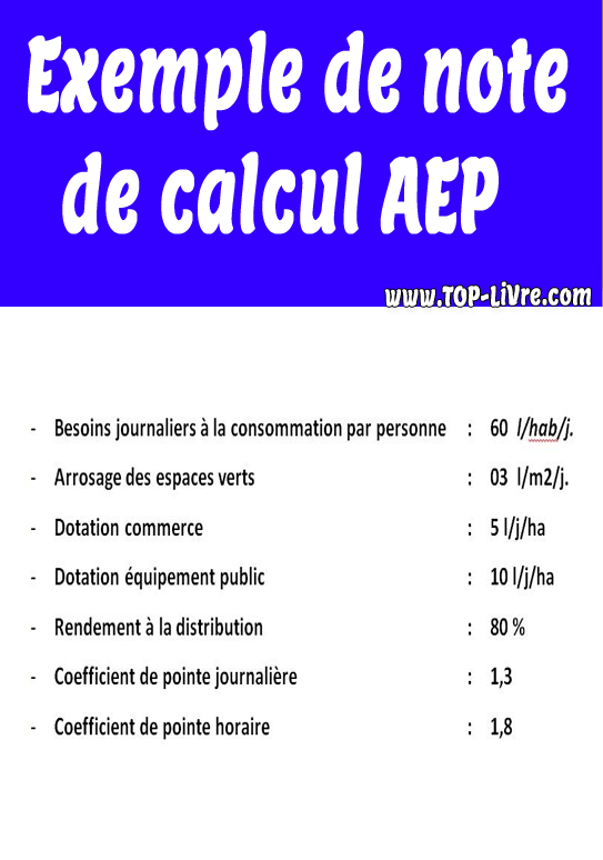 Exemple de note de calcul AEP