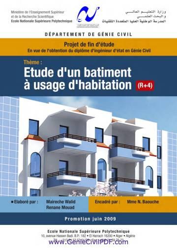 Etude d'un Bâtiment à usage d'habitation R+4