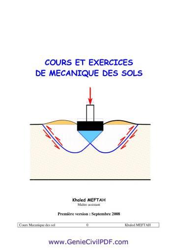 COURS ET EXERCICES DE MECANIQUE DES SOLS