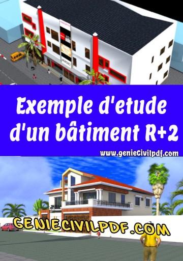 Exemple d'etude d'un bâtiment R+2