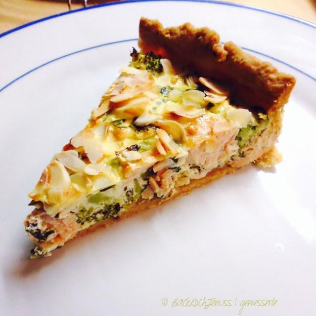 Wildlachs-Brokkoli-Bärlauch-Quiche