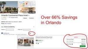 Huge savings on GenieTraveler.com for Orlando Continental Plaza Hotel