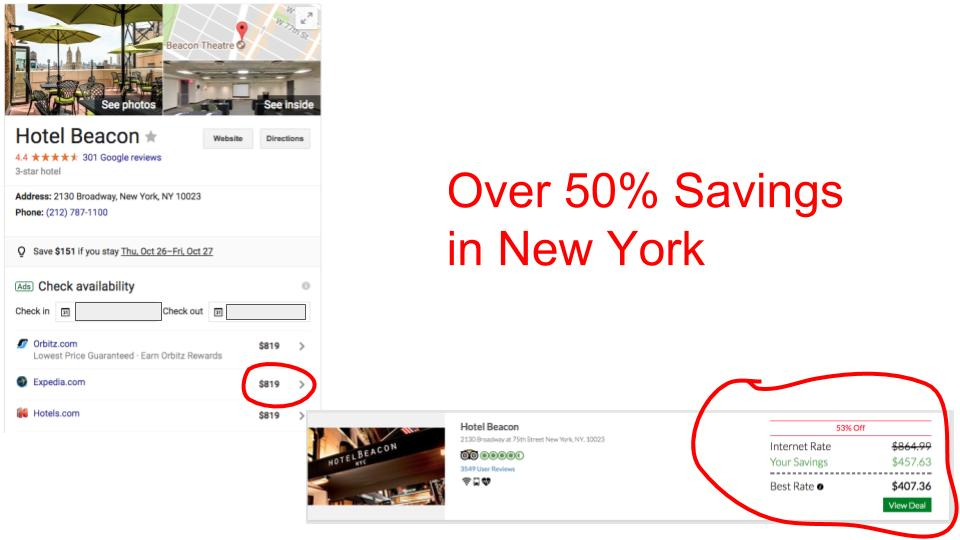 Huge savings on GenieTraveler.com for Hotel Beacon, New York City