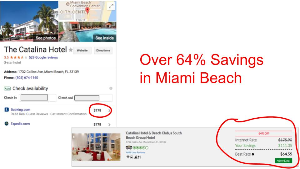 Huge savings on GenieTraveler.com for Miami Beach, Florida