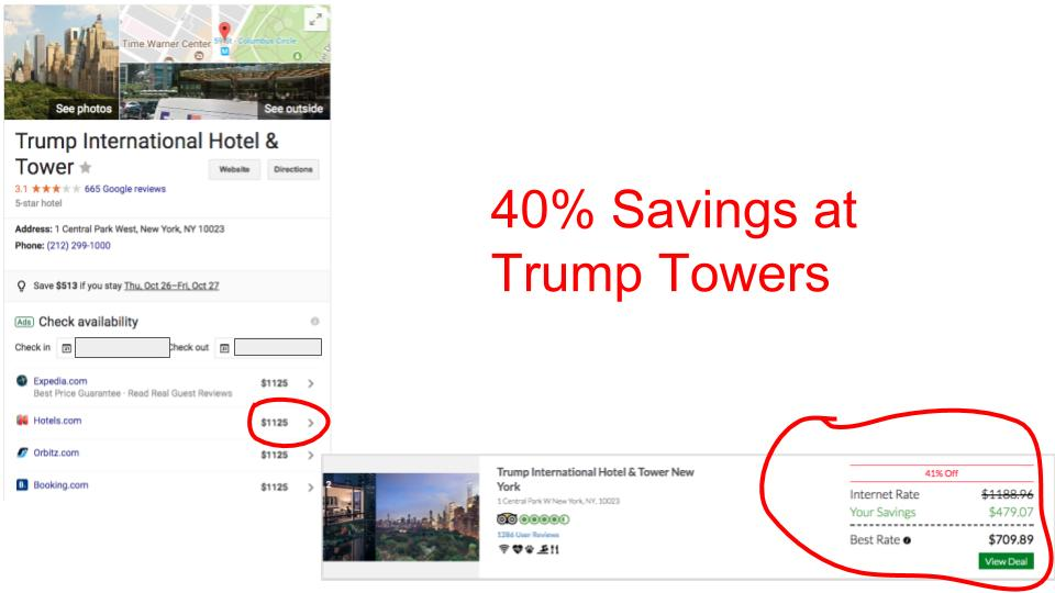 Huge savings on GenieTraveler.com for Trump Towers, New York City