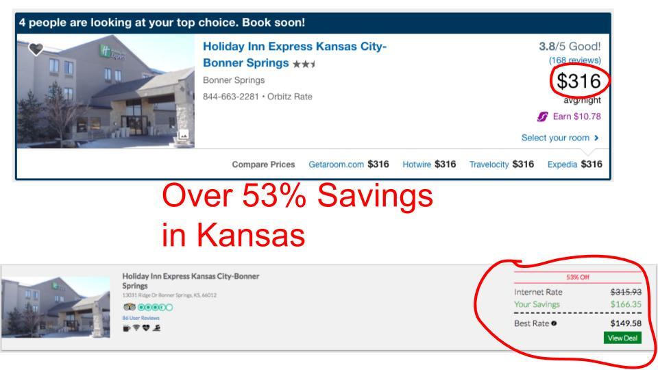 Huge savings on GenieTraveler.com for Kansas, KS