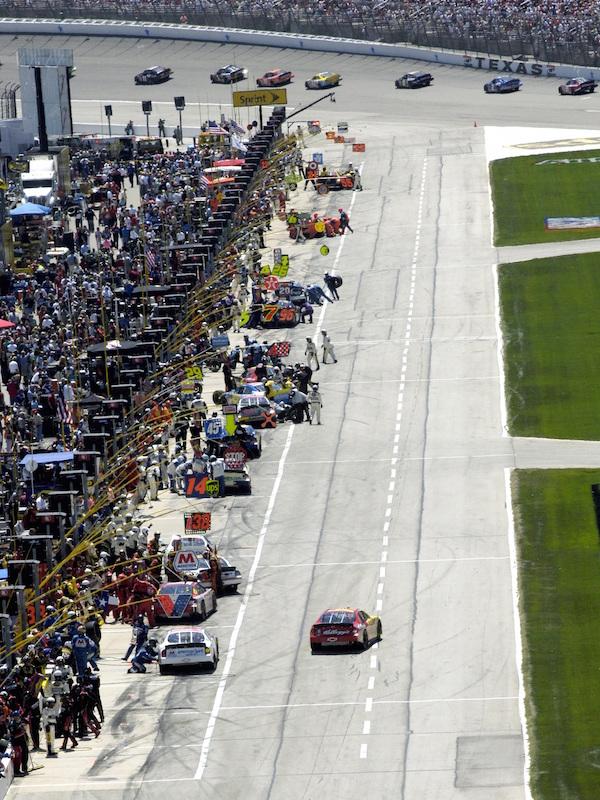 NASCAR racing pits