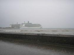 Rainy day in Falmouth, Jamaica