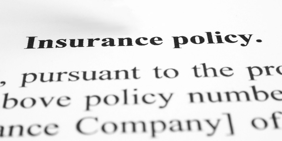 Paper that says Insurance policy