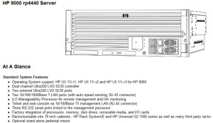 HP 9000 rp4440 Server at Genisys