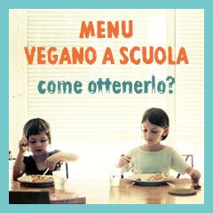 Menu vegano a scuola
