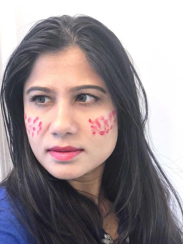 Chanel Lip Blush on Cheeks and Lips