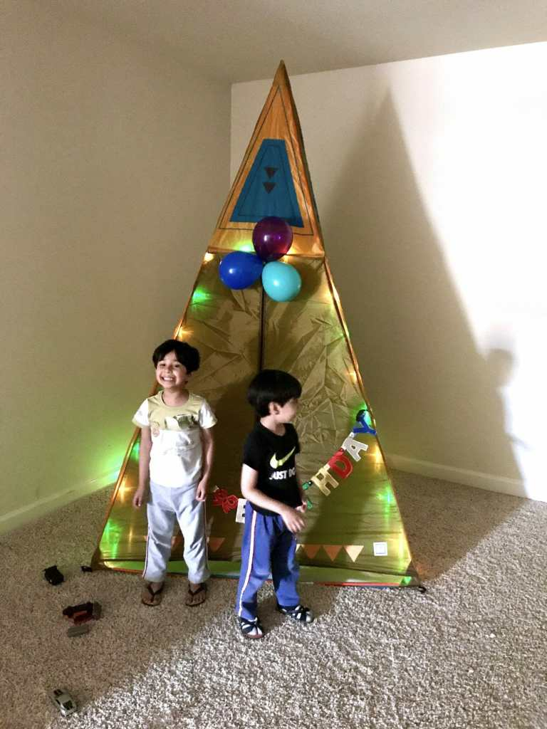 kids enjoying Pacific play giant teepee