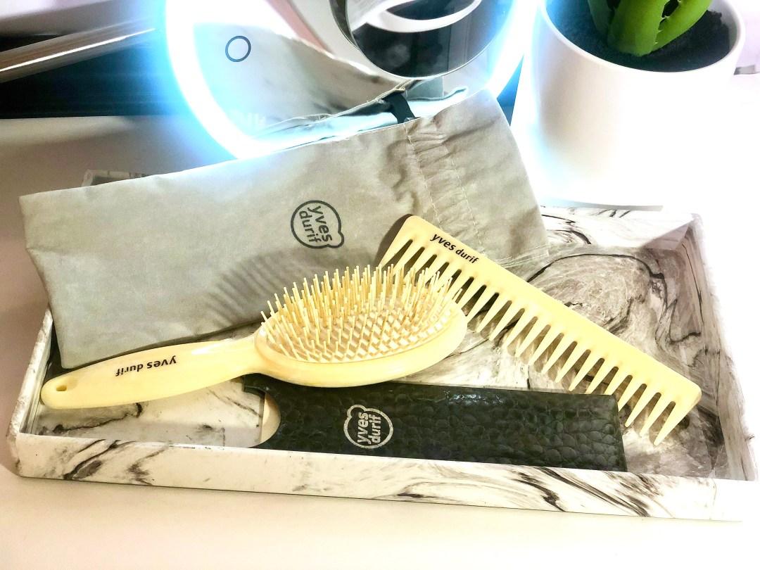 Yves Durif Hair comb and Hair brush