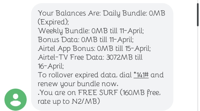 Airtel TV free 3 GB DATA