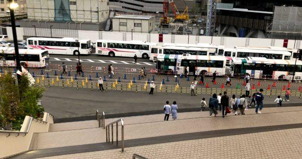 ヤフオクドーム帰りの臨時バス