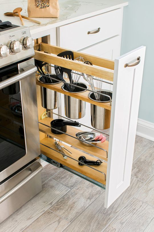 12 stunning vertical drawers for your kitchen storage ideas - genmice