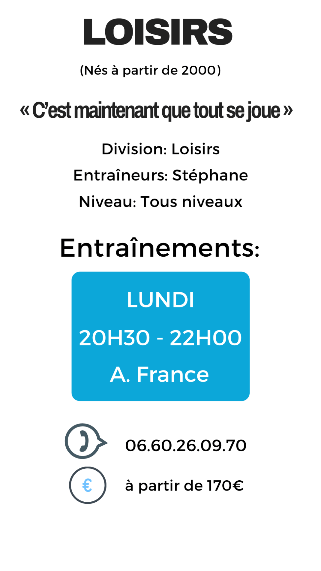 Infos Loisirs Adultes
