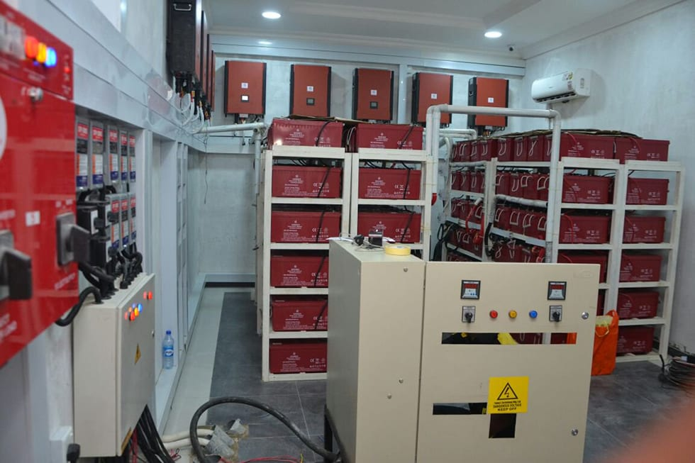 93.84 KWP Off-Grid Solar Powered Filling Station