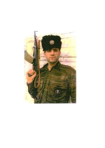 Milan Lukic wearing Chetnik(WW2 Serb Royalists) headgear.