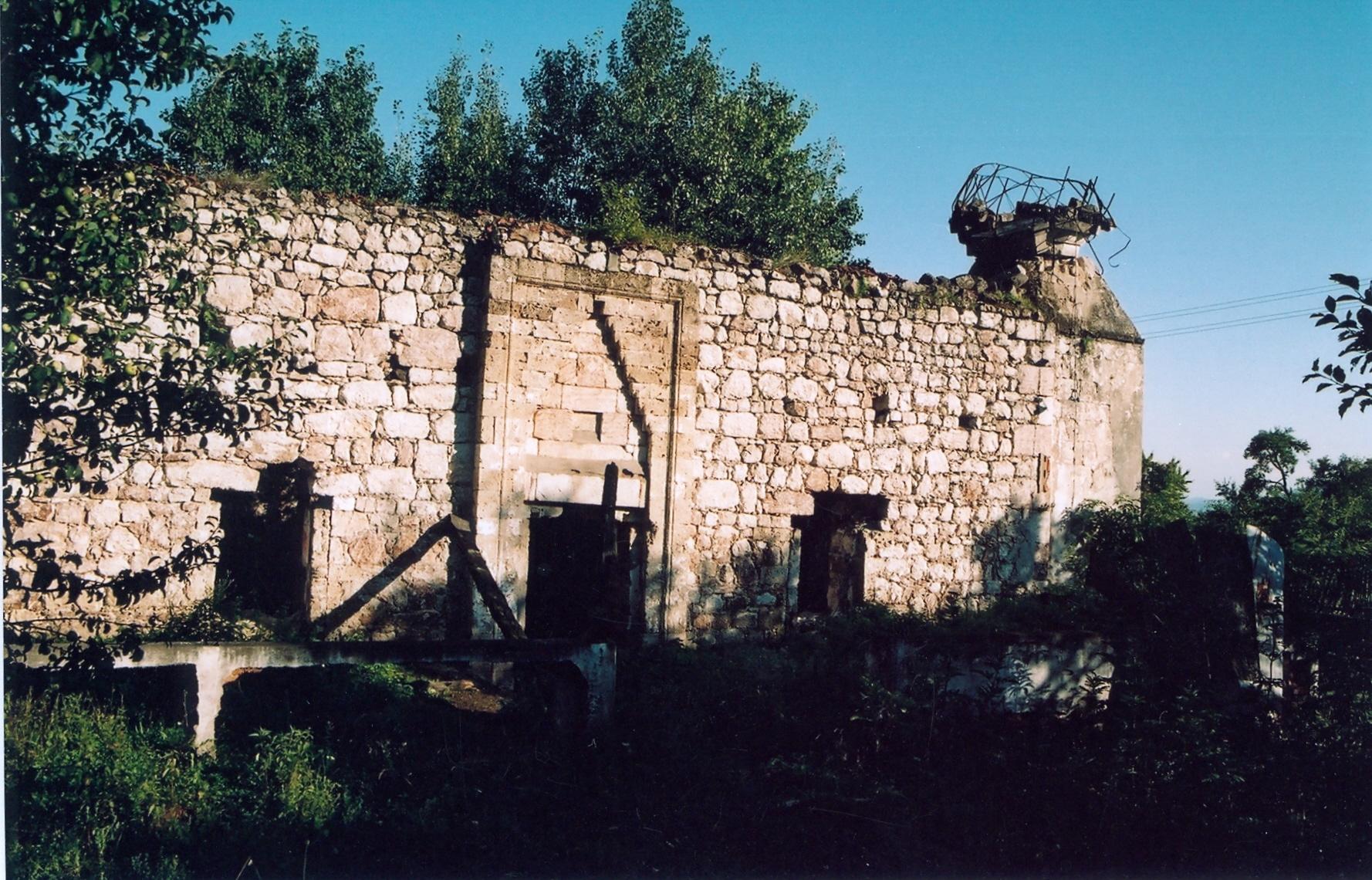 Visegrad-Zlijeb-minirana i zapaljena dzamija