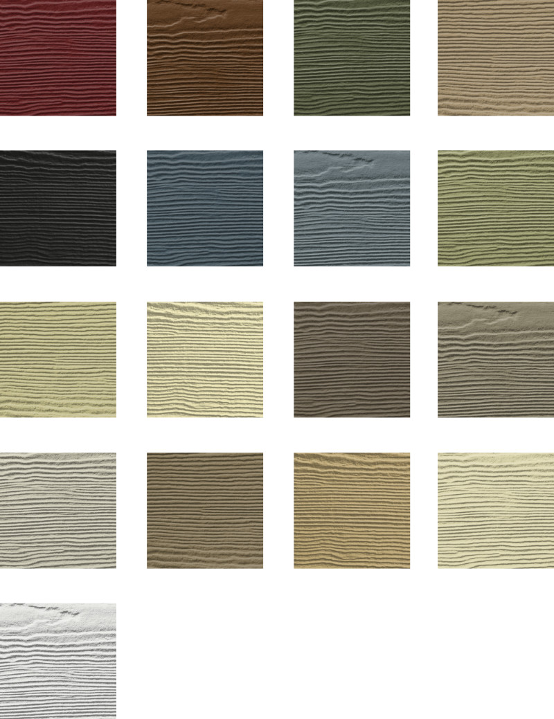 James Hardie Siding Palette