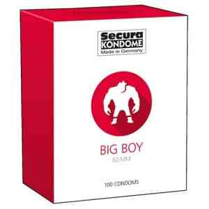 Secura Kondome Big Boy Condoms - 100 Stuks | Genotshop.nl