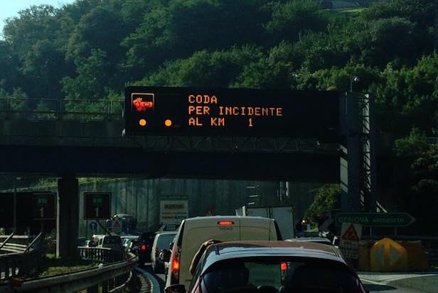 coda incidente autostrada