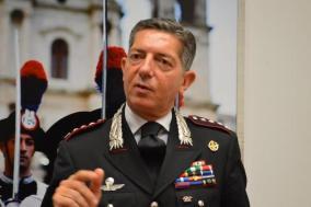 Il colonnello Riccardo Sciuto, comandante provinciale dei carabinieri