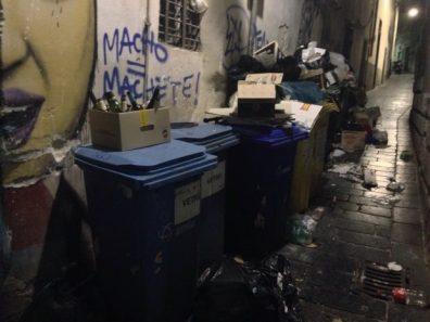 spazzatura centro storico