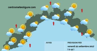 Meteo Limet: nuvolosità mediobassa e isolati piovaschi