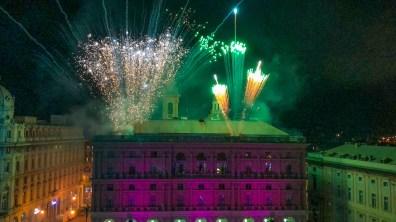 Fuochi d'artificio piazza de Ferrari