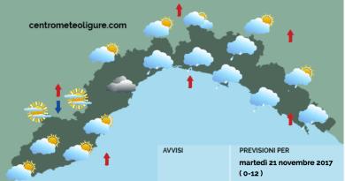 Meteo Limet, diffusa nuvolosità e qualche debole fenomeno piovoso