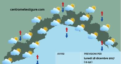 Meteo Limet, aumenta la nuvolosità e si attende qualche piovasco, ma martedì tornerà il sole