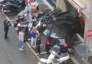 Senza patente, sfonda con l'auto la vetrina di un negozio a Marassi