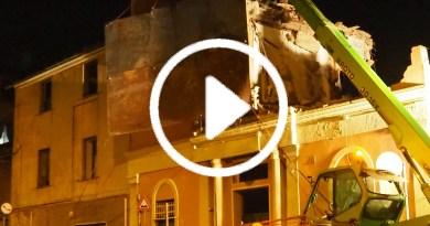 Fegino, demolita la ex caserma dei CC per fare posto al nodo ferroviario – Foto e VIDEO