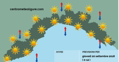 Meteo Limet: soleggiato su tutta la regione