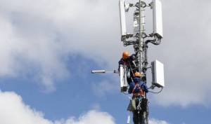 5G-Masten in Betrieb