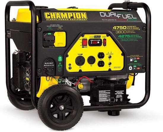 Champion 3800W Dual Fuel Generator