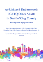 At-Risk and Underserved LGBTQ older adults logo